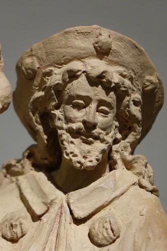 Sculpture  - Saint Rocco ,Unique Original  Terracotta  Statue France 18th Century