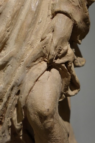 Saint Rocco ,Unique Original  Terracotta  Statue France 18th Century -