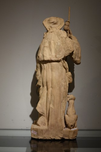 Saint Rocco ,Unique Original  Terracotta  Statue France 18th Century - Louis XV