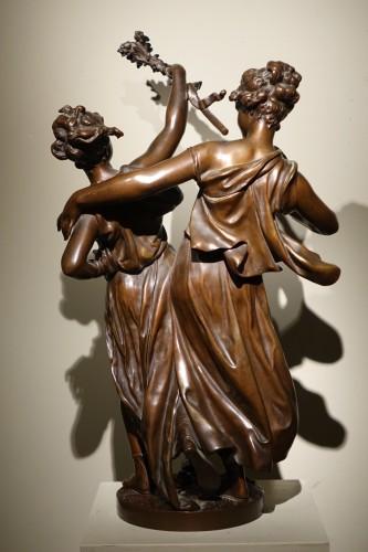 Bacchanale figure  - Etienne Henry DUMAIGE (1830-1888) - Sculpture Style Napoléon III