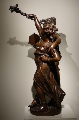 Sculpture  - Bacchanale figure  - Etienne Henry DUMAIGE (1830-1888)