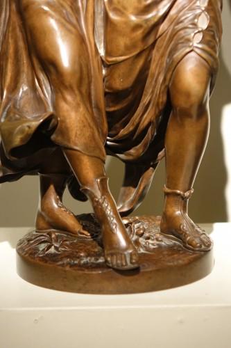 Bacchanale figure  - Etienne Henry DUMAIGE (1830-1888) -