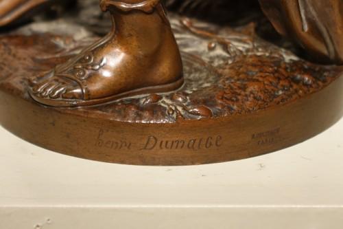 19th century - Bacchanale figure  - Etienne Henry DUMAIGE (1830-1888)