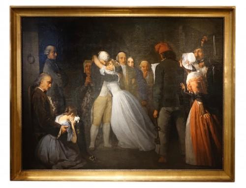 The Farewells of Louis XVI to Marie Antoinette Signed Lucien de Latouche, F