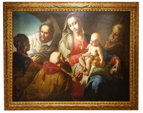 Adoration of the Magi, Oil on Canvas Early 18th Century Venetian School