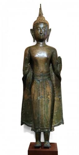 Ayuthaya Style Standing Bronze Figure of Bouddha,Mid 17th Century ,Thailand