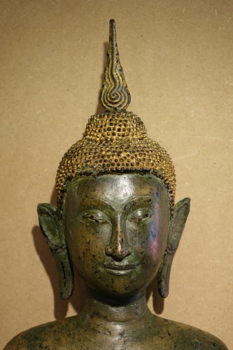 Sculpture  - Ayuthaya Style Standing Bronze Figure of Bouddha,Mid 17th Century ,Thailand