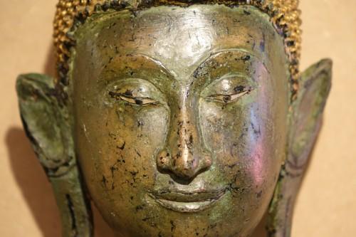 Ayuthaya Style Standing Bronze Figure of Bouddha,Mid 17th Century ,Thailand -