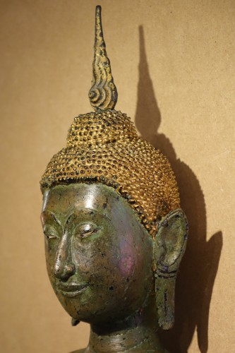 Antiquités - Ayuthaya Style Standing Bronze Figure of Bouddha,Mid 17th Century ,Thailand