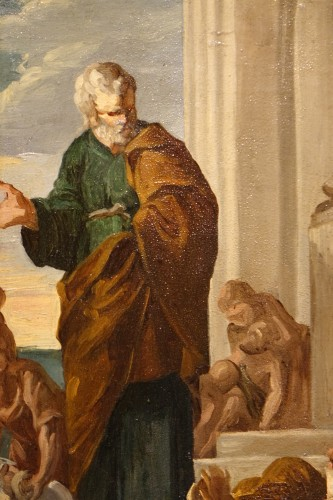 Saint Paul Healing the Sick by Gabriel Ferrier, Oil on Canvas - Paintings & Drawings Style Napoléon III