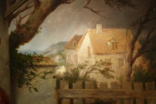Antiquités - Sheltered during the storm - Felix Paul GUERIE (1819-1895) Oil on Canvas