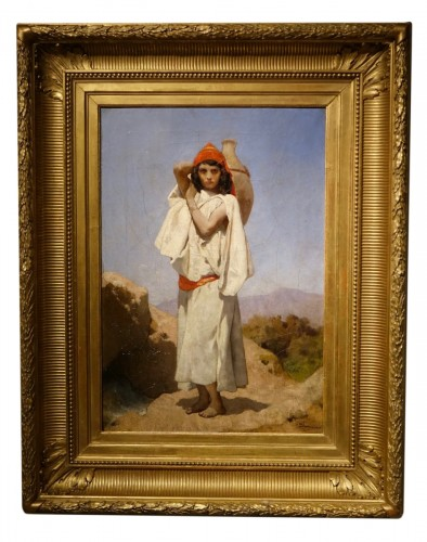 Young Water Carrier Signed J.M Desandre circa 1880 , Oil on Canvas , France