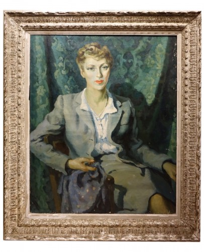 Jean Louis BOUCHEZ (1905-1983) - Portrait of an elegant