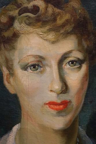 Jean Louis BOUCHEZ (1905-1983) - Portrait of an elegant - Paintings & Drawings Style