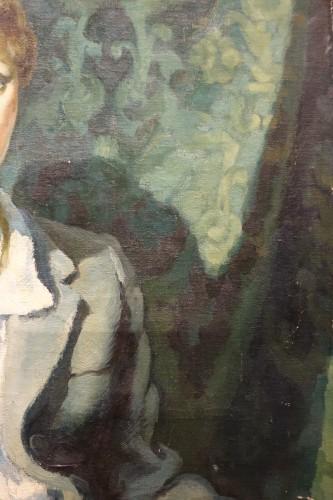 20th century - Jean Louis BOUCHEZ (1905-1983) - Portrait of an elegant