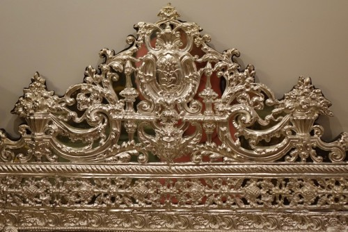 Louis XIV style Mirror in silver plated  bras, French Second Empire period  - Mirrors, Trumeau Style Napoléon III