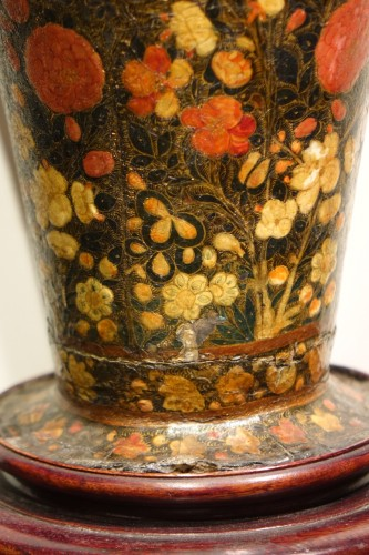 Asian Art & Antiques  -  Lacquered Vase, Kashmir, India 19th Century.