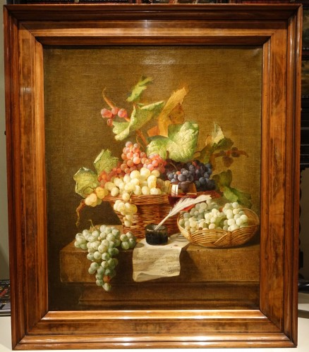 Still Life With Grapes - Claudius Pizzetty, 1866