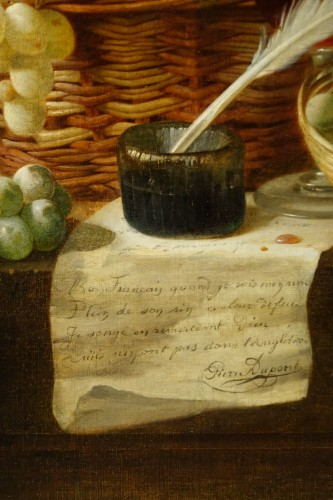 Still Life With Grapes - Claudius Pizzetty, 1866 - Paintings & Drawings Style Napoléon III