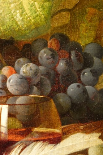 Still Life With Grapes - Claudius Pizzetty, 1866 -