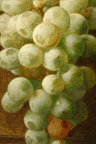 19th century - Still Life With Grapes - Claudius Pizzetty, 1866