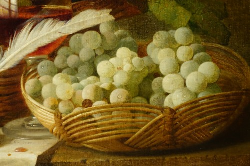 Still Life With Grapes - Claudius Pizzetty, 1866 - Napoléon III