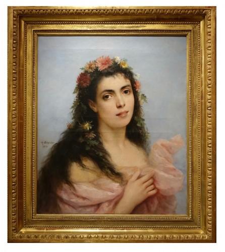 Portrait of a young women - Ch. SCHREIBER,1893