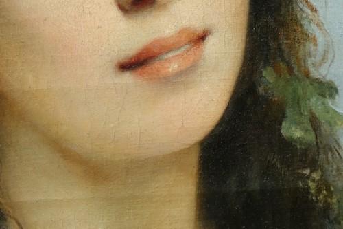 Portrait of a young women - Ch. SCHREIBER,1893 -