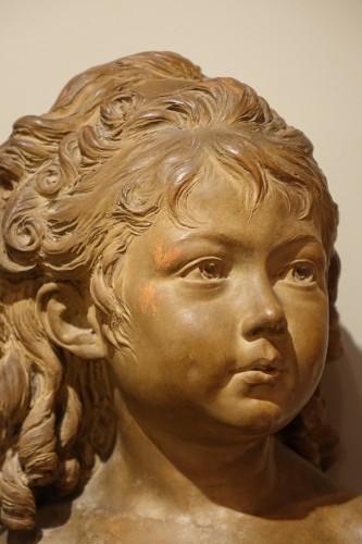 Sculpture  - Terra-Cotta Sculpture Bust of Sabine Houdon, Jean Antoine Houdon