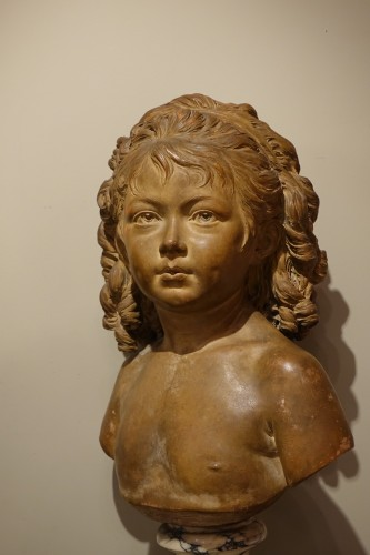Terra-Cotta Sculpture Bust of Sabine Houdon, Jean Antoine Houdon -