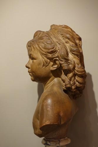 19th century - Terra-Cotta Sculpture Bust of Sabine Houdon, Jean Antoine Houdon