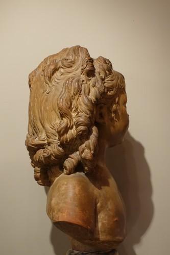 Louis-Philippe - Terra-Cotta Sculpture Bust of Sabine Houdon, Jean Antoine Houdon