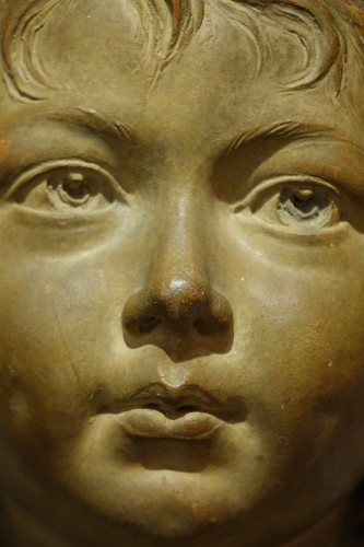 Antiquités - Terra-Cotta Sculpture Bust of Sabine Houdon, Jean Antoine Houdon