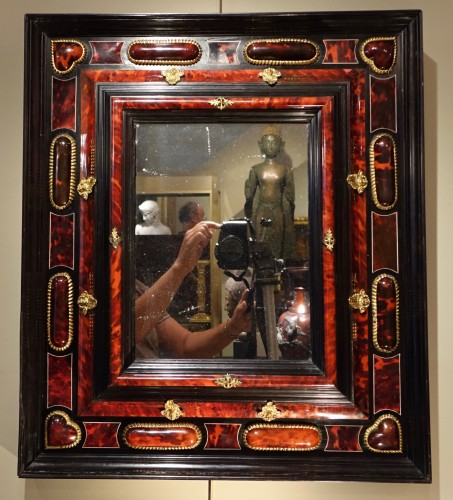 Mirror in tortoise shell, Anvers, 17th century - Mirrors, Trumeau Style Louis XIII