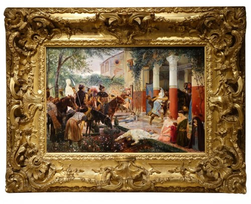 Oil on canvas,signed Georges ROCHEGROSSE ,1894