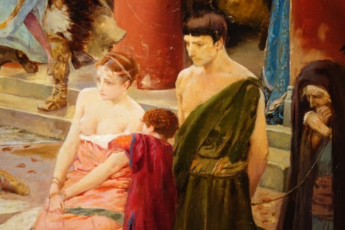 19th century - Oil on canvas,signed Georges ROCHEGROSSE ,1894