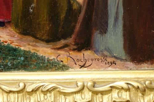 Oil on canvas,signed Georges ROCHEGROSSE ,1894 -