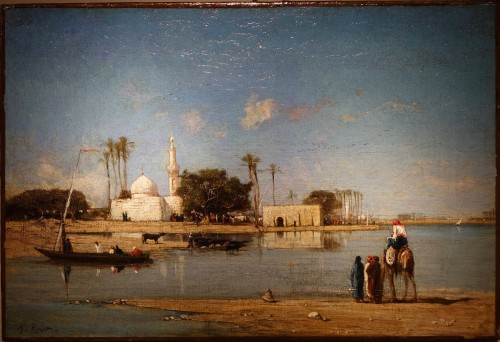 Edges of the Nile - Victor Hughet (1835-1902)