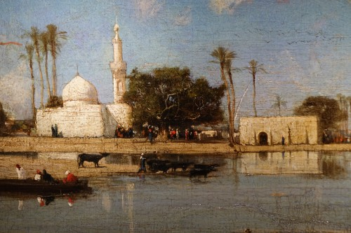Edges of the Nile - Victor Hughet (1835-1902) - Paintings & Drawings Style