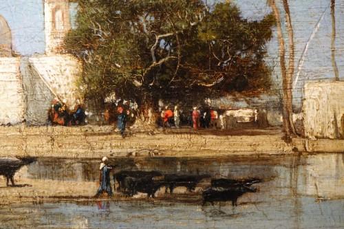 Paintings & Drawings  - Edges of the Nile - Victor Hughet (1835-1902)