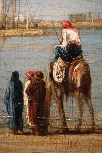 19th century - Edges of the Nile - Victor Hughet (1835-1902)