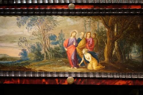 17th Century Flemish Cabinet in Ebony, Tortoiseshell and Blackened Wood  -