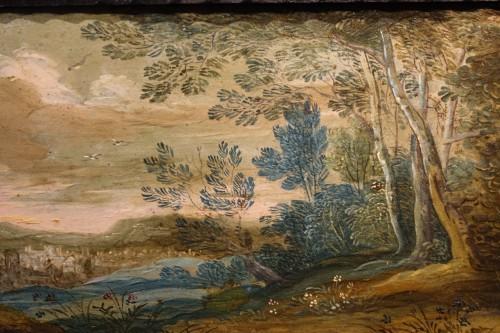 Antiquités - 17th Century Flemish Cabinet in Ebony, Tortoiseshell and Blackened Wood