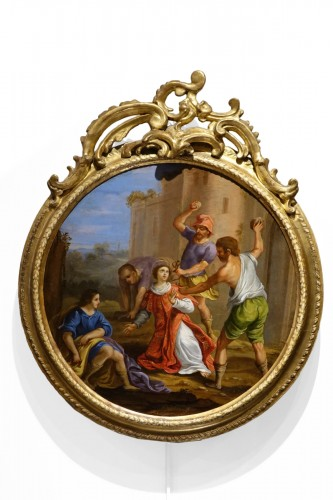 "Painting ""Stoning of Saint Stephen"" Oil on Copper, Italian School, 17th C"