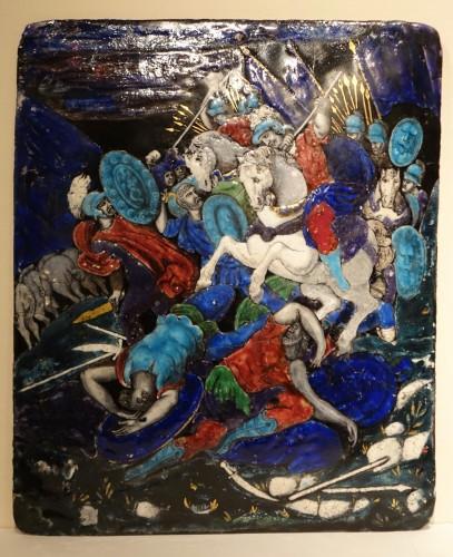 Limoges enamel representing the battle of Zama, 16th-17th century  - Porcelain & Faience Style Renaissance