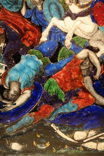 Limoges enamel representing the battle of Zama, 16th-17th century  -
