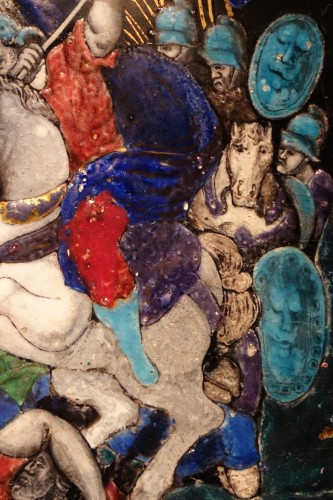 17th century - Limoges enamel representing the battle of Zama, 16th-17th century