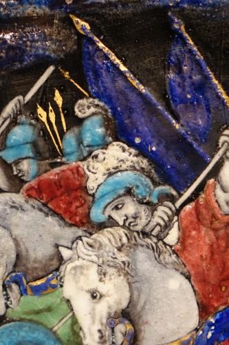 Renaissance - Limoges enamel representing the battle of Zama, 16th-17th century