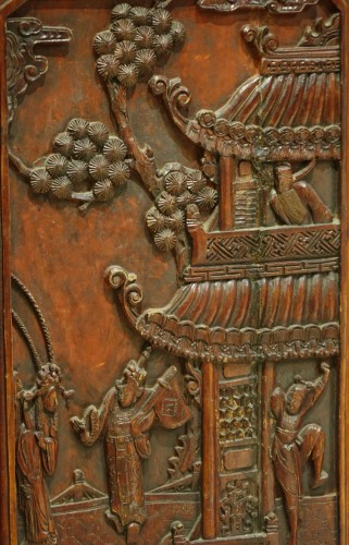 Antiquités - A  19th century  Chinese lacquer screen