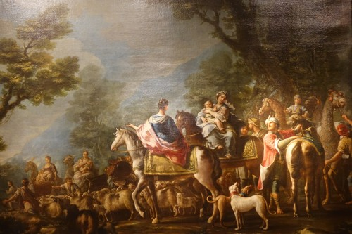 Jacob Returns to Canaan, French school 18th century - Paintings & Drawings Style Louis XV